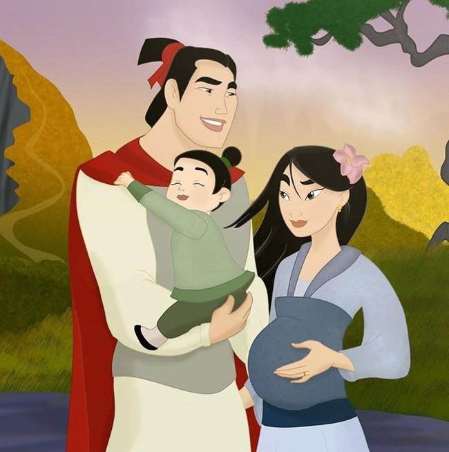 Khi 18 cặp đôi nổi tiếng của Disney khi có con, bộ tranh thu hút sự chú ý trên toàn thế giới - Ảnh 8.