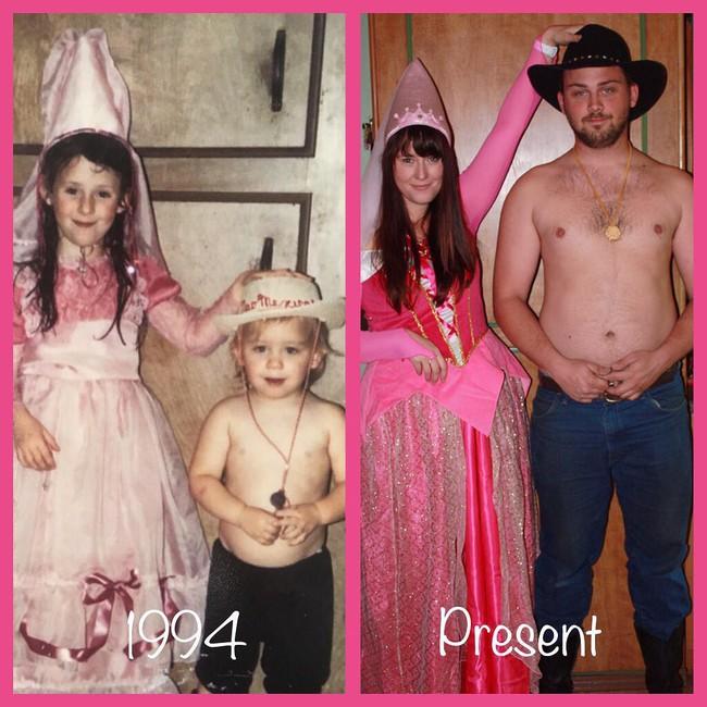 Độc đáo những bức hình chụp con lúc bé với khi lớn lên nhưng với chi tiết đặc biệt này - Ảnh 20.