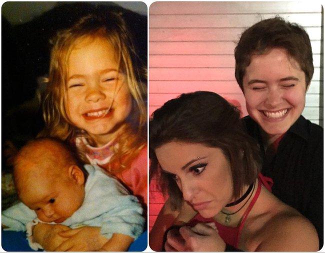 Độc đáo những bức hình chụp con lúc bé với khi lớn lên nhưng với chi tiết đặc biệt này - Ảnh 6.