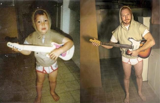 Độc đáo những bức hình chụp con lúc bé với khi lớn lên nhưng với chi tiết đặc biệt này - Ảnh 7.
