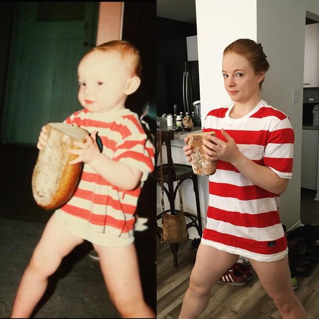 Độc đáo những bức hình chụp con lúc bé với khi lớn lên nhưng với chi tiết đặc biệt này - Ảnh 8.