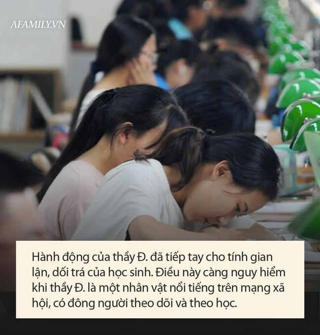 Thầy Toán nổi tiếng bị tố giúp học sinh gian lận trong kỳ thi thử của Sở GD-ĐT Hà Nội, người trong nghề bức xúc: Đây là hành vi trái đạo đức - Ảnh 6.