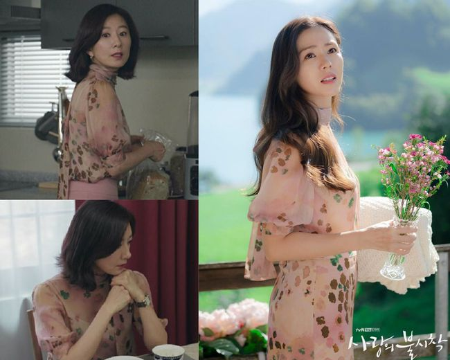 """Son Ye Jin xinh tươi phơi phới trong chiếc áo hoa nhưng vẫn thua nhẹ bà cả """"Thế Giới Hôn Nhân"""" về độ sang trọng, quý phái - Ảnh 3."""