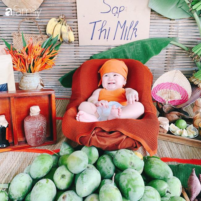 """Mẹ Sài Gòn tận dụng cây nhà lá vườn dựng bối cảnh chụp ảnh siêu yêu cho con, nhìn kho ảnh ai nấy """"phục sát đất"""" - Ảnh 3."""