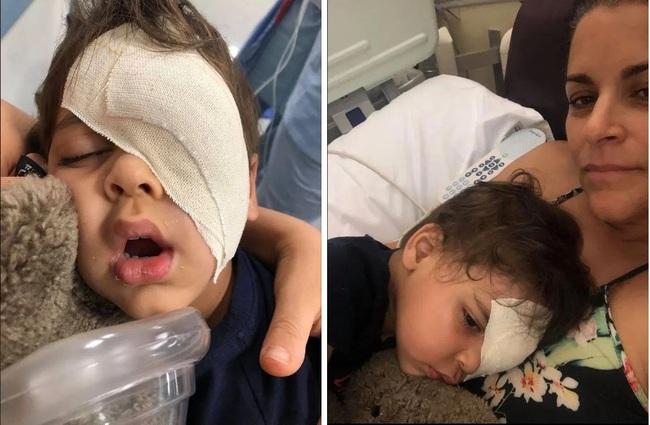 Chụp hình thấy mắt con có một viên bi nhưng vẫn chủ quan không cho con đi khám, bà mẹ chết lặng nghe tin sét đánh khi bệnh viện yêu cầu đưa bé trai đến hóa trị gấp - Ảnh 3.