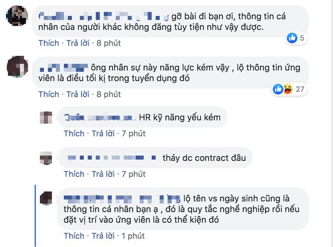 Chàng trai HR bị ném đá kịch liệt vì đăng thông tin ứng viên lên Facebook, đã thế còn bễu cợt phán xét - Ảnh 6.