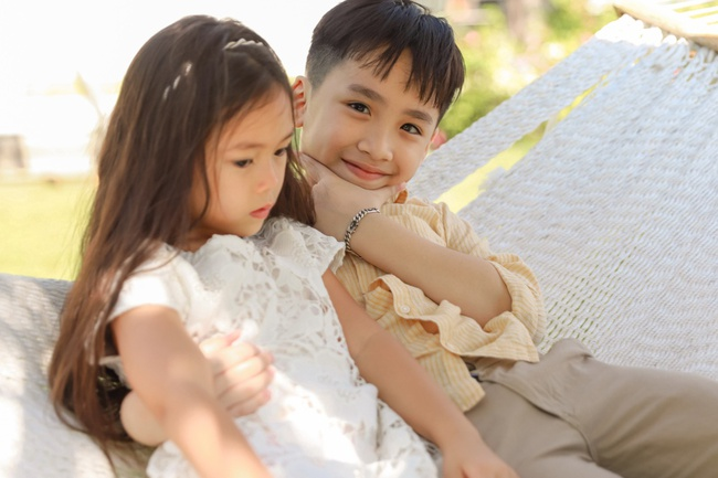 Thu Trang đẹp dịu dàng, bật cười thích thú khi con trai thân thiết với con gái Đoan Trang - Ảnh 7.