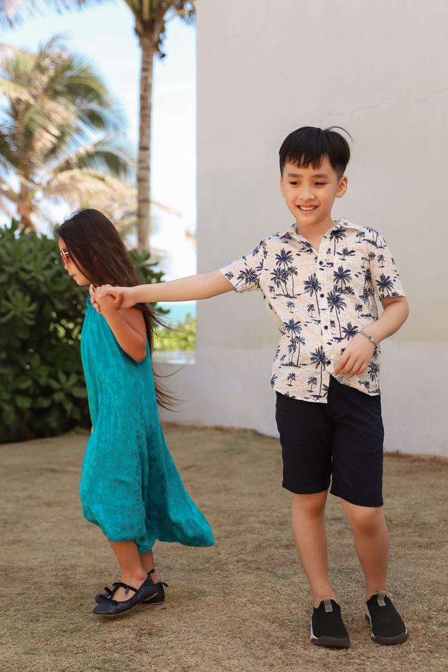 Thu Trang đẹp dịu dàng, bật cười thích thú khi con trai thân thiết với con gái Đoan Trang - Ảnh 3.