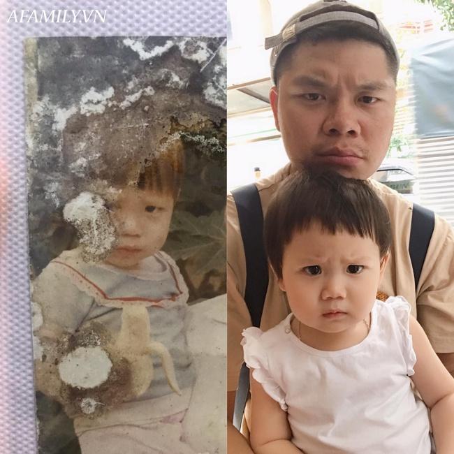 """Bị đổ tại """"khó ở"""" lúc bầu nên sinh con ra mặt cau có, mẹ trẻ được minh oan sau khi tìm thấy bức ảnh ngày bé của chồng - Ảnh 4."""