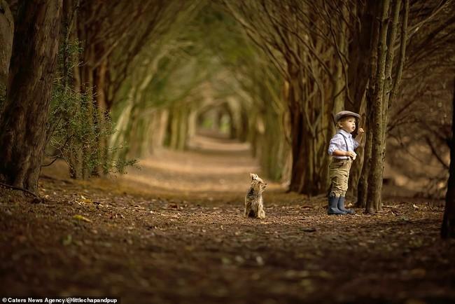 Tan chảy với những hình ảnh siêu cấp đáng yêu giữa cậu bé 2 tuổi và chú chó cưng - Ảnh 26.