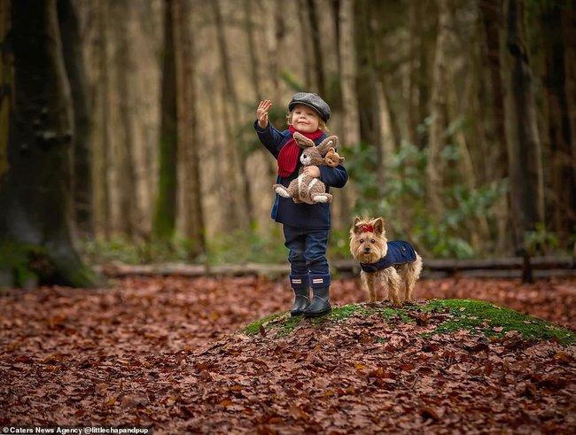 Tan chảy với những hình ảnh siêu cấp đáng yêu giữa cậu bé 2 tuổi và chú chó cưng - Ảnh 12.