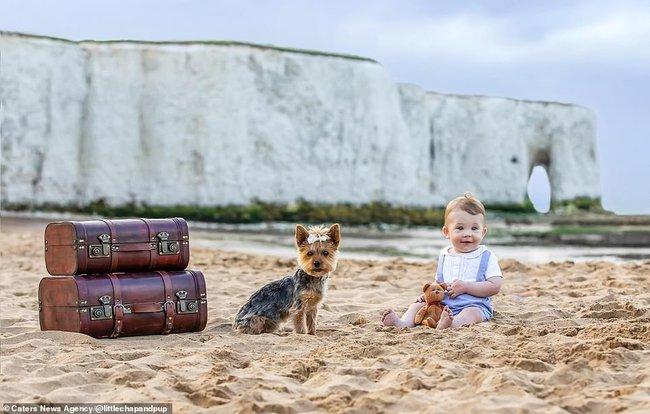 Tan chảy với những hình ảnh siêu cấp đáng yêu giữa cậu bé 2 tuổi và chú chó cưng - Ảnh 14.
