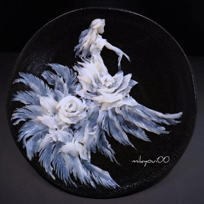 Trầm trồ trước tài nghệ bếp núc đầy nghệ thuật của ông bố Nhật Bản: Biến những lát sashimi đơn điệu thành tranh 3D sống động! - Ảnh 8.