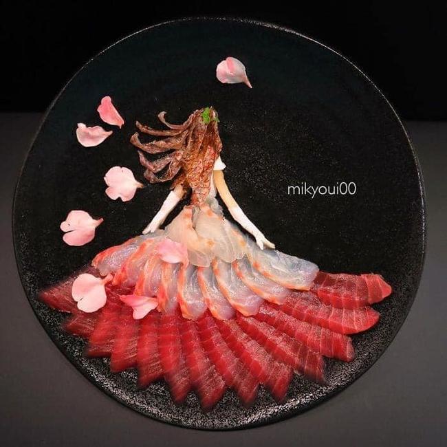 Trầm trồ trước tài nghệ bếp núc đầy nghệ thuật của ông bố Nhật Bản: Biến những lát sashimi đơn điệu thành tranh 3D sống động! - Ảnh 24.
