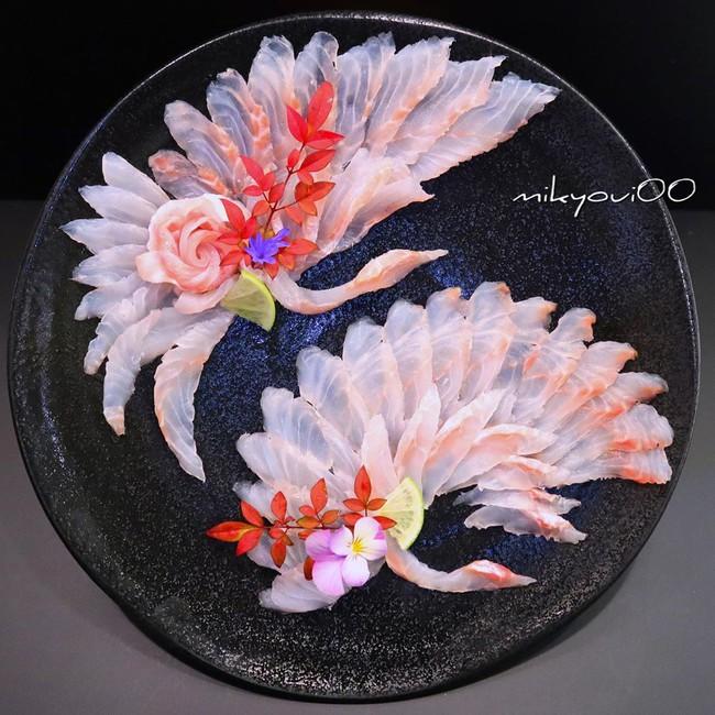 Trầm trồ trước tài nghệ bếp núc đầy nghệ thuật của ông bố Nhật Bản: Biến những lát sashimi đơn điệu thành tranh 3D sống động! - Ảnh 13.