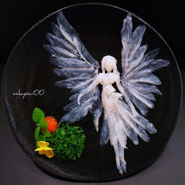 Trầm trồ trước tài nghệ bếp núc đầy nghệ thuật của ông bố Nhật Bản: Biến những lát sashimi đơn điệu thành tranh 3D sống động! - Ảnh 18.