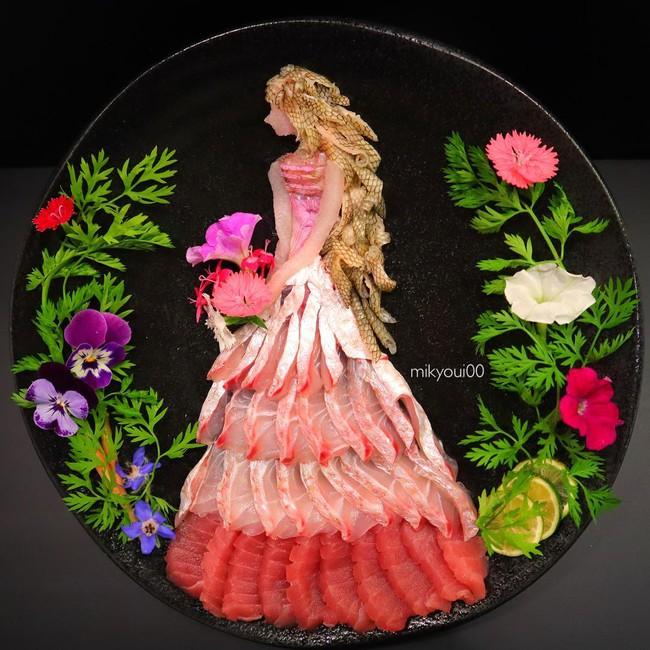 Trầm trồ trước tài nghệ bếp núc đầy nghệ thuật của ông bố Nhật Bản: Biến những lát sashimi đơn điệu thành tranh 3D sống động! - Ảnh 17.
