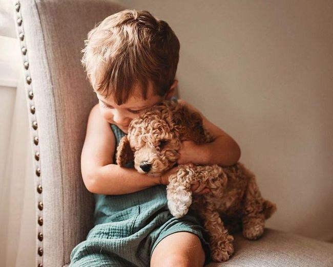 """""""Thòng tim"""" với bộ ảnh ghi lại khoảnh khắc không thể ngọt ngào hơn khi các bé âu yếm ôm thú cưng - Ảnh 13."""