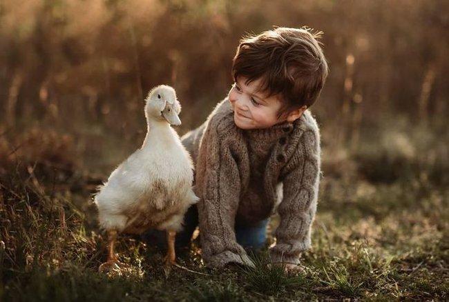 """""""Thòng tim"""" với bộ ảnh ghi lại khoảnh khắc không thể ngọt ngào hơn khi các bé âu yếm ôm thú cưng - Ảnh 14."""