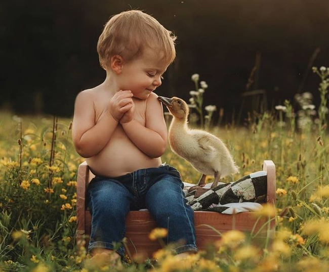 """""""Thòng tim"""" với bộ ảnh ghi lại khoảnh khắc không thể ngọt ngào hơn khi các bé âu yếm ôm thú cưng - Ảnh 15."""