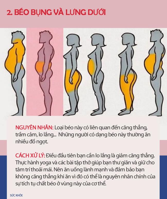 Nếu thấy mình có vẻ béo, hãy xem hình dưới đây để biết mình thừa mỡ ở chỗ nào trên cơ thể và cách xử lý nhanh nhất - Ảnh 3.