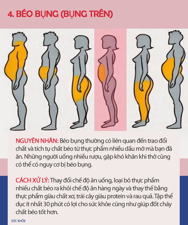 Nếu thấy mình có vẻ béo, hãy xem hình dưới đây để biết mình thừa mỡ ở chỗ nào trên cơ thể và cách xử lý nhanh nhất - Ảnh 5.