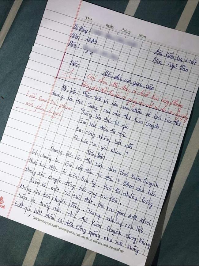 Học sinh giỏi Địa lại bị yêu cầu phân tích văn, cô giáo khen nức nở nhưng điểm số cuối cùng mới khiến ai nấy sửng sốt - Ảnh 1.