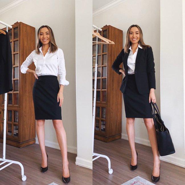 """Nàng fashion blogger chỉ cho chị em cách lên đồ công sở chuẩn """"pro"""" mà vẫn max sành điệu chỉ với vài items cơ bản - Ảnh 3."""