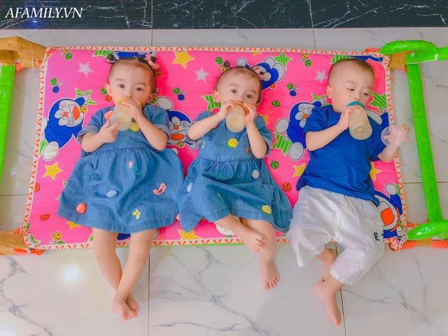 """Cuộc sống hiện tại của bà mẹ từng bất chấp nguy hiểm để sinh ba: Cả nhà """"đuối"""" vì chăm các bé, mỗi tháng tốn 25 triệu đồng - Ảnh 3."""