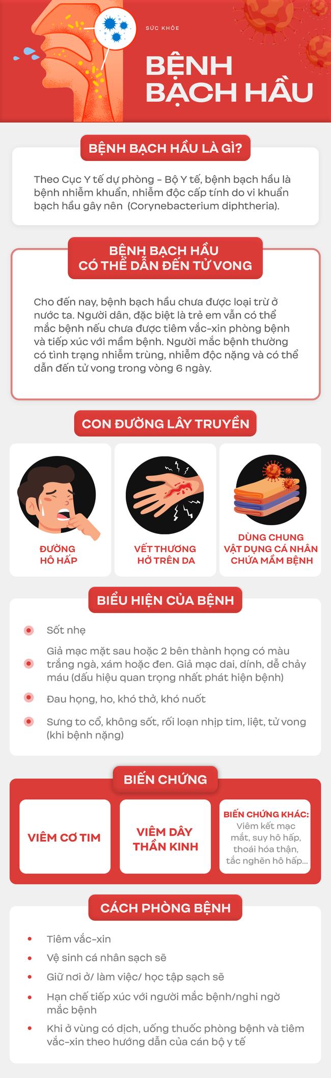 Liên tiếp xuất hiện các ổ bệnh bạch hầu tại Việt Nam: Đây là lý do bạch hầu có thể lây mạnh và vô cùng nguy hiểm cho tính mạng người bệnh - Ảnh 4.