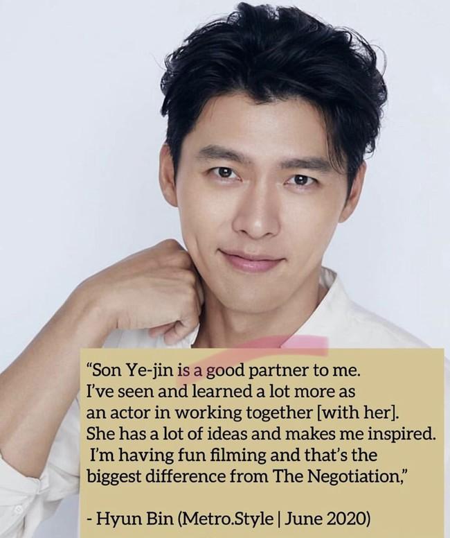 """Lục lại những lần chia sẻ về """"cô bạn thân"""" trước truyền thông, dân tình vô tình phát hiện Hyun Bin từng có câu nói cực đáng yêu này với Son Ye Jin - Ảnh 2."""
