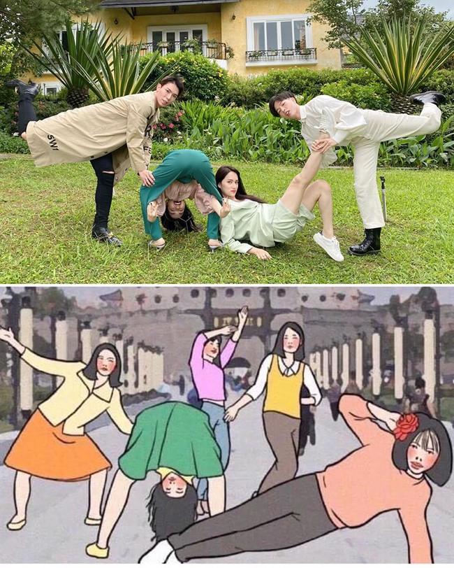 Hương Giang, Hòa Minzy, Đức Phúc và Erik vui hết nấc khi đi du lịch chung.