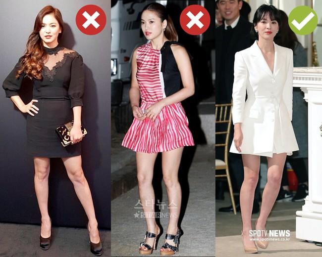 Rút kinh nghiệm từ Song Hye Kyo, chị em sẽ biết mẫu giày nào nên - không nên diện nếu sở hữu cặp chân ngắn và hơi thô - Ảnh 3.