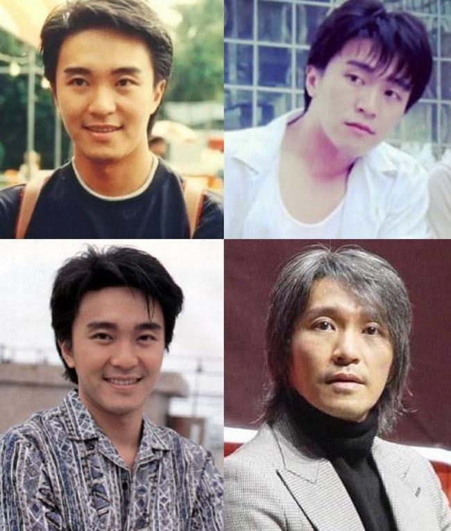 Vua hài Châu Tinh Trì cũng từng có một thời gian xuất hiện với gương mặt baby và thư sinh. Nhưng sau khi dừng sự nghiệp diễn xuất để làm đạo diễn, Châu Tinh Trì cũng không còn chăm chút cho bản thân, dù bằng tuổi Lương Triều Vỹ nhưng anh trông già hơn nhiều so với người bạn này.