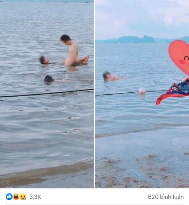 """Cặp đôi tạo dáng với tư thế phản cảm khi đi tắm biển khiến mọi người xung quanh """"nóng mắt"""" - Ảnh 1."""