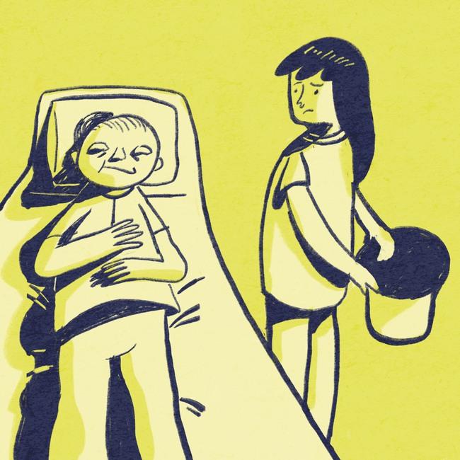 Mẹ chồng ốm nặng nhưng chồng nhất quyết không cho tôi vào viện chăm nom bà khiến các chị dâu bực bội ra mặt - Ảnh 2.