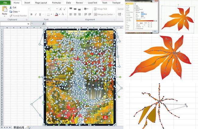 Gây ám ảnh với hội công sở nhưng Excel lại được ông cụ 80 tuổi này sử dụng để... vẽ tranh, nhìn vào các tác phẩm ai cũng sốc - Ảnh 3.