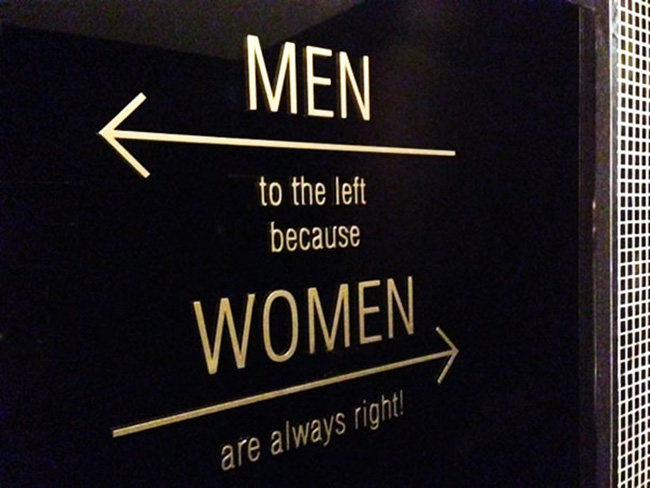 Những tấm biển chỉ dẫn nhà vệ sinh hài hước và độc đáo khiến ai cũng phải công nhận sức sáng tạo của con người thật không có giới hạn - Ảnh 3.