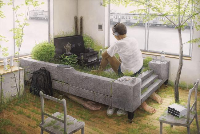 Qua đời ở tuổi 31, họa sĩ Nhật để lại loạt tác phẩm siêu thực ám ảnh thế giới, nhiều dân công sở thấy mình trong đó - Ảnh 12.