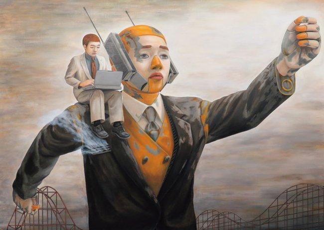 Qua đời ở tuổi 31, họa sĩ Nhật để lại loạt tác phẩm siêu thực ám ảnh thế giới, nhiều dân công sở thấy mình trong đó - Ảnh 10.
