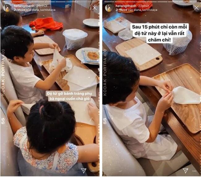 Mới 5 tuổi, con trai Tăng Thanh Hà đã ra dáng thanh niên khi vào bếp phụ mẹ nấu ăn - Ảnh 2.