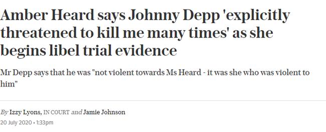 """Johnny Depp bị tố nhiều lần dọa giết vợ cũ, thậm chí còn cáo buộc Amber Heard """"quan hệ tình dục"""" với cả Leonardo DiCaprio - Ảnh 1."""