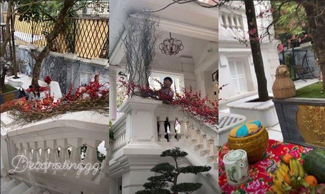 Á hậu Thanh Tú trang trí cổng lộng lẫy bằng ảnh chồng con, nhưng bên trong căn biệt thự càng gây choáng váng - Ảnh 8.