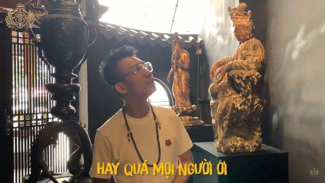 """Đại gia Minh Nhựa """"lấn sân"""" làm YouTuber, mở màn vlog đầu tay review quán cafe toàn cổ vật Phật giáo vô giá tại Sài Gòn khiến dân tình kinh ngạc - Ảnh 5."""