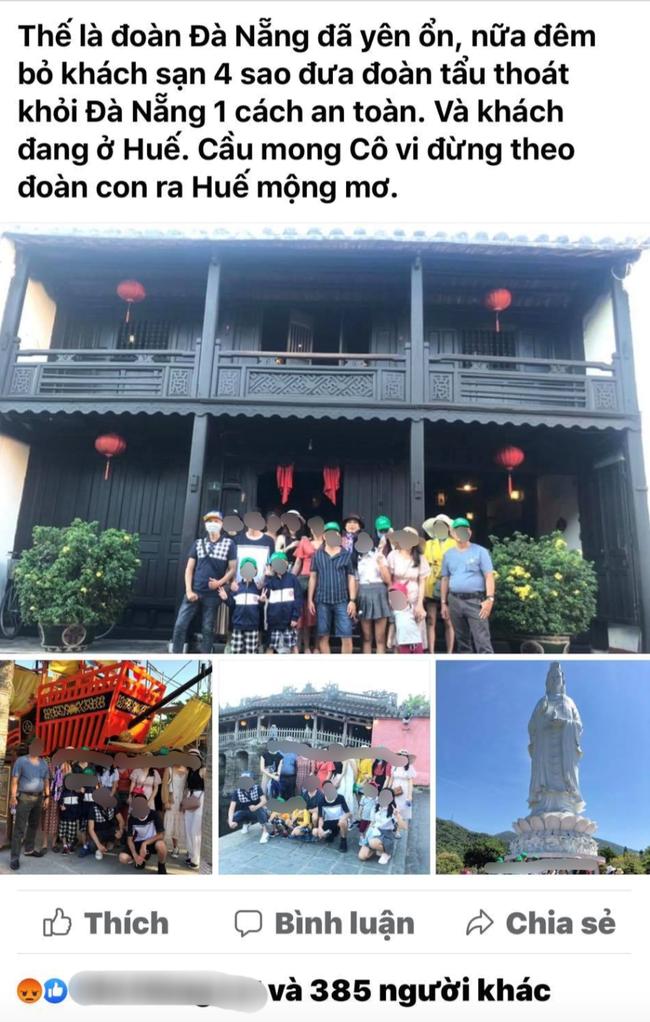 """Hướng dẫn viên du lịch lên mạng xã hội khoe đã """"tẩu thoát"""" thành công đoàn khách khỏi Đà Nẵng khiến dư luận phẫn nộ - Ảnh 1."""