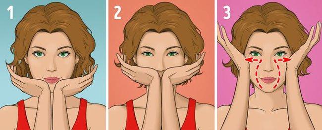 """Được coi là phương pháp massage """"làm cho khuôn mặt trẻ hơn 10 tuổi"""" mà không tốn kém, chị em tiếc gì 5 phút mỗi ngày mà không thực hiện ngay - Ảnh 9."""