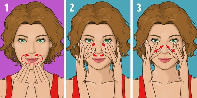 """Được coi là phương pháp massage """"làm cho khuôn mặt trẻ hơn 10 tuổi"""" mà không tốn kém, chị em tiếc gì 5 phút mỗi ngày mà không thực hiện ngay - Ảnh 5."""