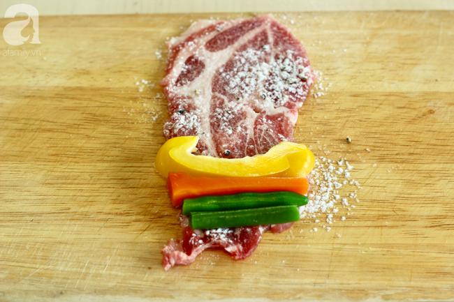 Thịt heo cuộn rau củ - Ảnh 4.