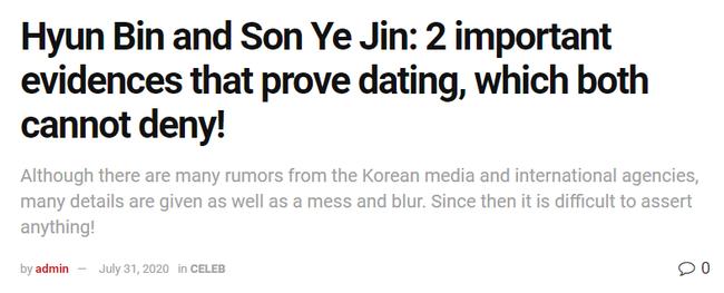 Nhìn đi nhìn lại vẫn còn hai bằng chứng cho thấy Hyun Bin và Son Ye Jin thực sự hẹn hò mà đại diện hai bên chưa thể có câu trả lời hợp lý? - Ảnh 1.