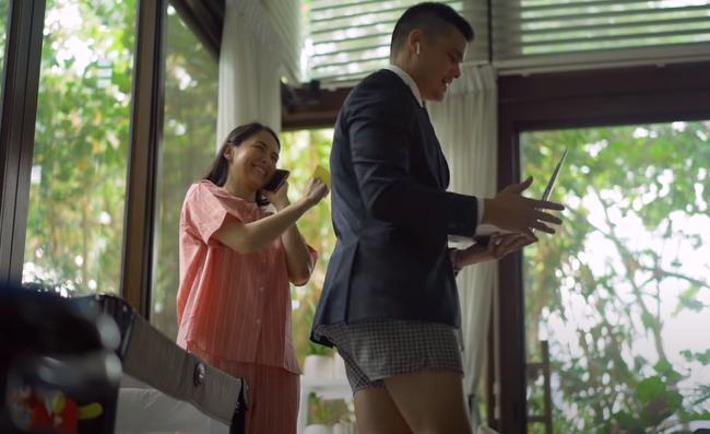 """Khoảnh khắc dìm hàng nhau của gia đình """"mỹ nhân đẹp nhất Philippines"""": Vợ mặc nguyên bộ đồ ngủ, chồng thì trên vest chỉnh tề dưới lại diện quần đùi  - Ảnh 2."""